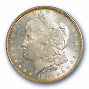 1878 8tf 1 Morgan Dollar Anacs Ms 63 Uncirculated Lustrous Beauty Old Holder
