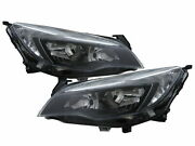 Astra Mk6 2010-2015 Hatchback 5d Clear Headlight Black For Vauxhall Lhd