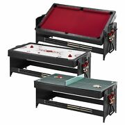 Fat Cat Original 3-in-1 7and039 Pockey Multi-game Table Red