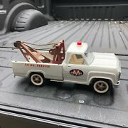 """Vintage Early1964 Tonka White 518 Wrecker Tow Truck Pressed Steel 14.5"""" Long"""