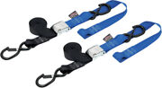 Powertye Black/blue 1 1/2in. Cam-buckle With Safety Latch Hooks And Soft-tye