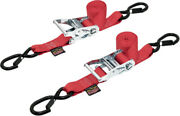 Powertye 1.5in Ratchet W/ Safety Latch Hooks Red Ratchet 6 1/2in