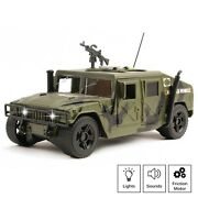 Military Toys Humvee Truck Gift Action Army Vehicle Powered With Lights Sounds