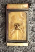 Vintage Original Girey Makeup Compact Compact With Mirror And Rouge Celluloid