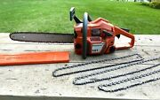 Husqvarna Air Injection 141 Chainsaw 16 Bar And 4 Chains Chain Saw Great Shape