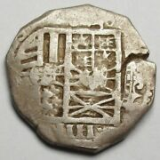 Philip Iv 1621-1665  Top Spain 4r Silver Reales - Toledo 13.70g/28mm Rare Type