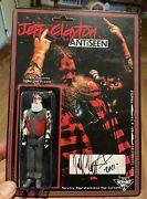 Hand Signed Jeff Clayton Antiseen 3.75andrdquo Action Figure Punk Collectible