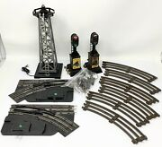 Vtg Marx 3 Rail Curve Track, Control Switch, Tower And Signal O Scale Lot - Read