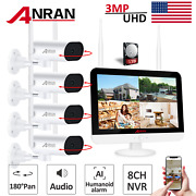 Security Camera System Home Wireless Audio 3mp 8ch 13 Nvr Pan Rotate 1/2tb Cctv