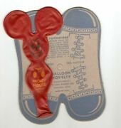 Vintage Old Mickey Mouse Balloon Shoes Toy Dime Store 1950s Unused Dime Store