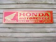 New Honda And039and039goldwingand039and039motorcycle Dealer/service Sign/ad Panel W/goldwing Logo