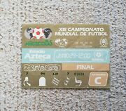 Fifa World Cup 1986 Final Argentina Vs. West Germany Stub Ticket