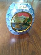 The Art Of Chokin 24k Gold Edged Vase River And Mountain Scenery