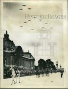 1934 Press Photo Bombers Fly Over Paris On Anniversary Of Fall Of Bastille
