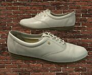 Easy Spirit Motion 6 Anti-gravity White Lace Up Womenandrsquos Leather Shoes Size 8b