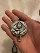 Boy Scouts Of America Cub Scout Vintage Bolo Tie Pewter Wolf Black Cord