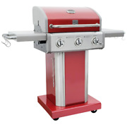 Propane Grill 51.1 In. X 45 In. 3-burner Warming Rack Cast Iron Stainless Steel