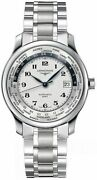New Longines Master Collection Silver Dial World Time Menand039s Watch L2.631.4.70.6