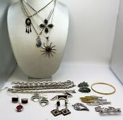 Lot Of Sterling Silver 925 Vintage To Modern Jewelry From Mexico Taxco 319 Grams
