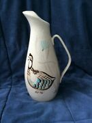 Water Pitcher Bob White By Red Wing Pottery Mid-century Modern