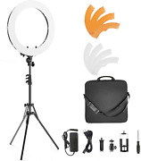 Ivisii Ring Light 18 Inch 55w 5500k Dimmable With Stand And Phone Holder Ball