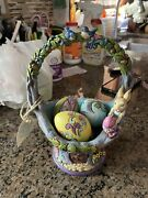 Jim Shore Welcome To The Art Of Easter Basket Eggs 4035131 Hardwood Creek Mint