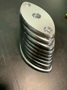 1/4 Oval Aluminum Boat T Top Outrigger Leaning Post Marine Mounting Pad Tab Usa