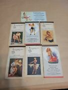 6 Different 1949 Pinup Sexy Art Moran Elvgrrn One Month Calender Note Pad