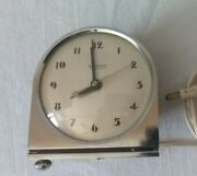 Vintage Hammond Synchronous Art Deco Footed Clock For Parts And Repair