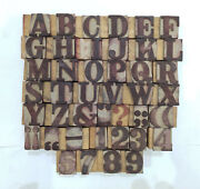 41 Letterpress Wood/wooden Hand-carved Matrices For Type Englishwmt114