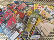 Box Full Old Car Magazines By Cars And Parts, 25 Random As Shown