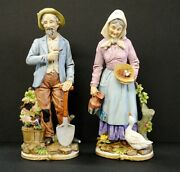 Vintage Man And Woman Figurines Homco, 5x14/6x13, Ceramic, Antiques