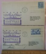 2 1952 Ss United States Lines Record-breaking Speed 1st Day Cover Harry Manning