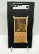 1954 New York Journal American Mickey Mantle W And03954 Schedule Just Graded Sgc 6