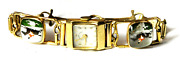 Ladies Abercrombie And Fitch Paul Vallette 17j Wristwatch 14k Fox Hunting 14mm