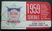 1959 National League Official Schedule Booklet Compliments Nl Pro Baseball Clubs