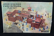 Vintage 1960 Marx Toys Fort Apache Play Set 3681 Boxed Cowboy Indian 99