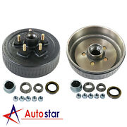New Trailer 5 On 5 Electric Brakes Hub Drums Complete Kit Fits 3500 Lb Axle
