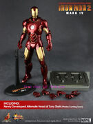 Hot Toys - Mms123 Iron Man 2 1/6th Mark Iv Limited Edition Action Figure Stock