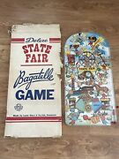 Vintage 1950's Large Marx State Fair Bagatelle Game Toy With Box Good Condition