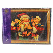 Christopher Radko Vintage Santa Placemats St/4 Wood Home For The Holidays Dolls