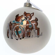 Holiday Ornament Reindeer Painted Ball Glass Noel Christmas 4035888