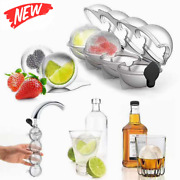 2.2 Bar Silicone Ice Cube 4ball Maker Mold Sphere Large Tray Whiskey Diy Mould