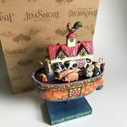 """Jim Shore 2006 Noah's Ark """"two By Two All Creatures Of Faith"""" Figurine 4007054"""