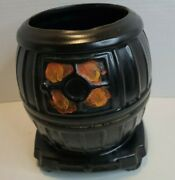 Mccoy Pot Belly Stove Cookie Jar Without Lid Great For Planter Cooking Utensils