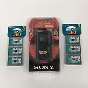Sony M 450 Microcassette Voice Recorder 6 Microcassette Tapes New Hh