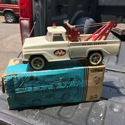 """Vintage 1964 Tonkaaa White Wrecker 518 With Box Played With Condition 14"""""""