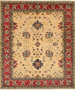 Hand-knotted Carpet 8and0393 X 9and03910 Traditional Vintage Wool Rug