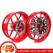 Front And Rear Wheel Rim Brake Disc Rotors For Honda Cbr 1000rr 2006 2007 Red Wh