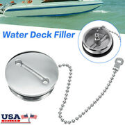 For Boat Deck Fill Filler Replace Cap And Chain Stainless Steel Fuel Water Gas Uk